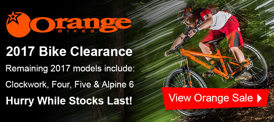 Orange 2017 Bike Clearance - Hurry While Stocks Last!