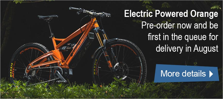 Electric Powered Orange - Pre-order now and be first in the queue for delivery in August