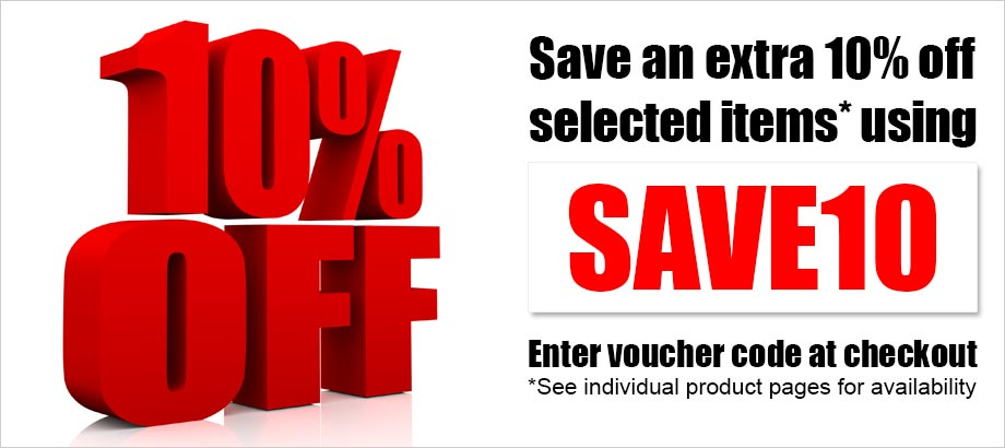 Save an extra 10% off selected items* using SAVE voucher code