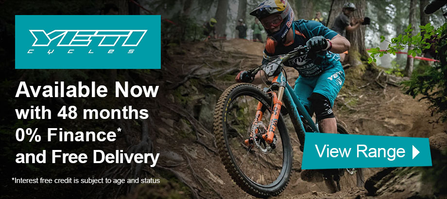 YETI Cycles - Available now with 48 months 0% finance and free delivery