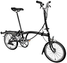 Brompton H Type 6 Speed/Mudguards/Rear Rack/ Black/Black- In Stock