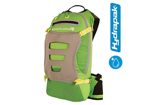 Endura SingleTrack Backpack with Hydrapak (Kelly Green)