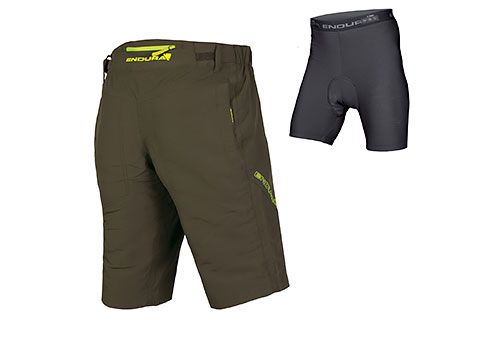 Endura SingleTrack III Short with Liner (Khaki)