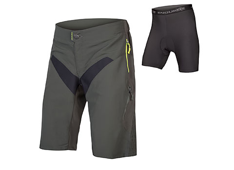 Endura SingleTrack Short with Liner (Khaki)