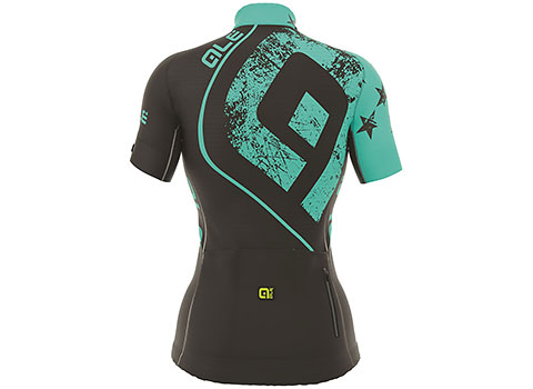 Alé Women's PRR Star Short Sleeve Jersey (Black/Turquoise)