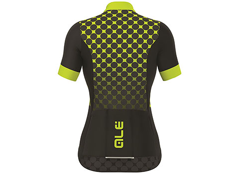Alé Women's Excel Bolas SS Jersey (Black/Yellow)