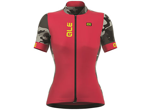 Alé Women's PRR 2.0 Ventura Short Sleeve Jersey (Strawberry/Yellow)