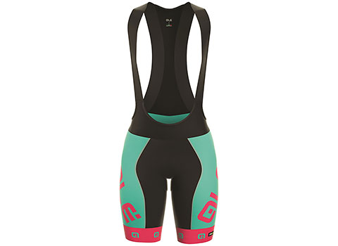 Alé Women's PRR Arcobaleno Bibshort (Turquoise/Pink)