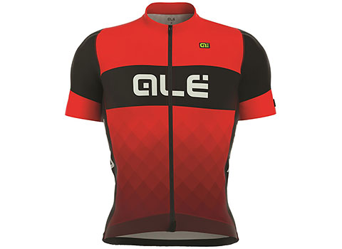 Alé Men's R-EV1 Rumbles Short Sleeve Jersey (Black/Red)