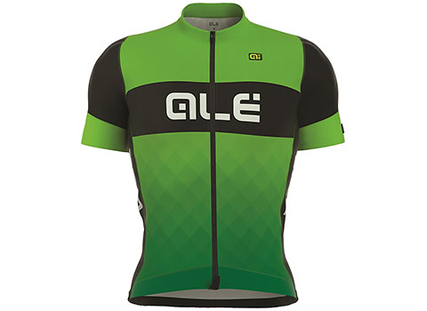 Alé Men's R-EV1 Rumbles Short Sleeve Jersey (Black/Green)