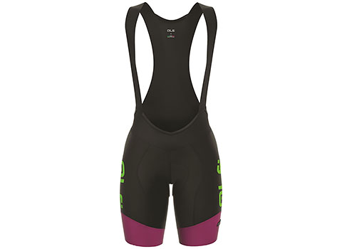 Alé Women's R-EV1 Master Bibshort (Black/Green/Purple)