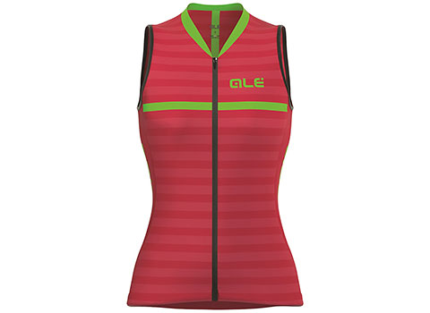 Alé Women's Excel Surf Sleeveless Jersey (Strawberry/Green)