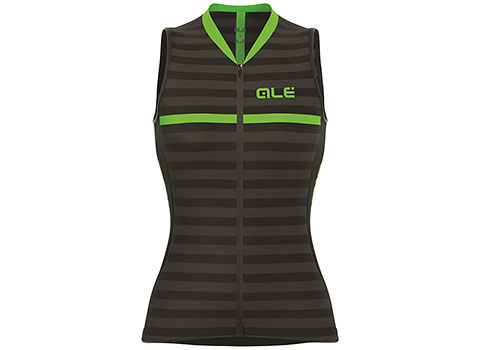 Alé Women's Excel Surf Sleeveless Jersey (Black/Green)