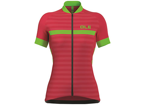 Alé Women's Excel Riviera Short Sleeve Jersey (Strawberry/Green)