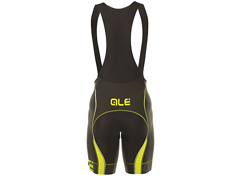 Alé Men's Graphics PRR Mithos Bibshorts (Black/Yellow)