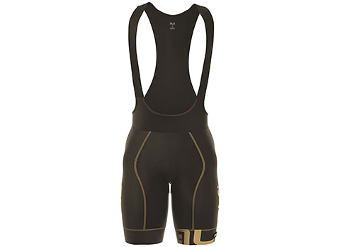 Alé Men's Graphics PRR Arcobaleno Bibshorts (Black/Gold)