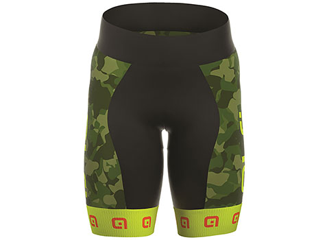 Alé Kids' Excel Boy Militare Short (Green/Yellow)