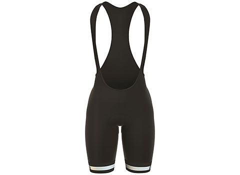 Alé Women's Plus Infinity Bib Shorts (Black/White)