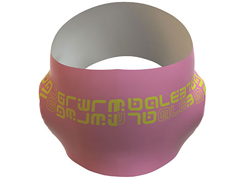 Alé Fascia Leggera Ear Band (Fluo Pink/Fluo Yellow)