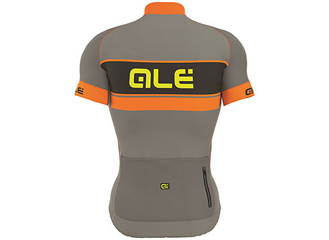 Alé Men's PRR Bermuda Short Sleeve Jersey (Grey/Orange)