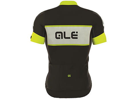 Alé Men's R-EV1 Master Short Sleeve Jersey (Black/White/Fluo Yellow)