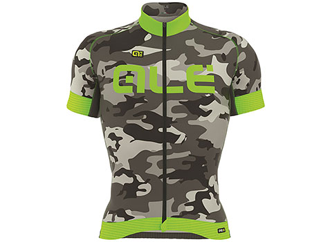 Alé Men's PRR Camo Jersey (Black/Green Fluo)