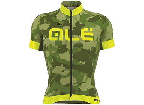 Alé Men's PRR Camo Jersey (Green/Yellow Fluo)