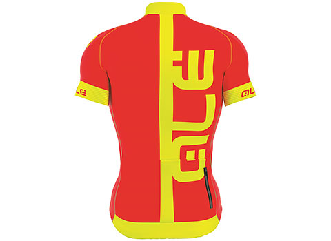 Alé Men's Graphics PRR Arcobaleno Short Sleeve Jersey (Red/Fluo Yellow)