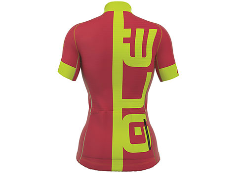 Alé Women's PRR Arcobaleno Short Sleeve Jersey (Strawberry/Fluo Yellow)