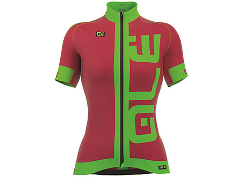 Alé Women's PRR Arcobaleno Short Sleeve Jersey (Strawberry/Green)