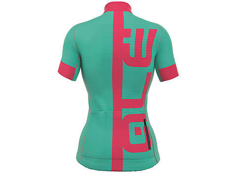 Alé Women's PRR Arcobaleno Short Sleeve Jersey (Turquoise/Pink)