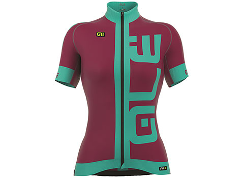 Alé Women's PRR Arcobaleno Short Sleeve Jersey (Prune/Turquoise)