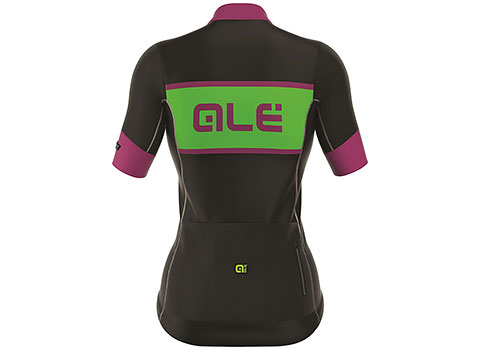 Alé Women's R-EV1 Master Short Sleeve Jersey (Black/Green)