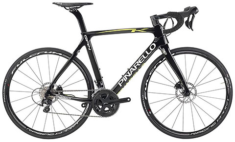 Pinarello 2017 Gan K Disc Carbon/Yellow Fluo Shiny