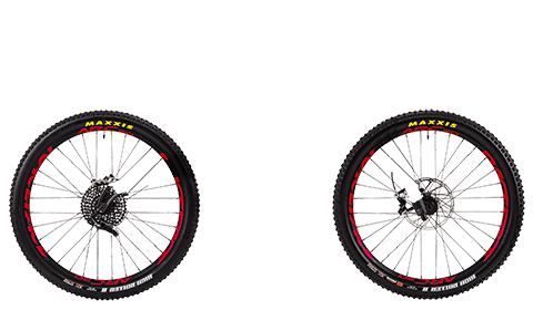 Five Factory Wheelset Black Hubs Red Rims