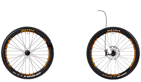 Segment Factory Wheelset Black Hubs Orange Rims