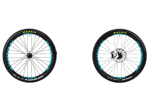 Stage 6 Factory Wheelset Black Hubs Blue Rims