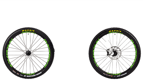 Stage 6 Factory Wheelset Black Hubs Green Rims