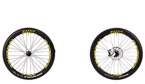 Stage 6 Factory Wheelset Black Hubs Yellow Rims