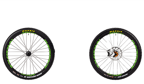 Stage 6 Factory Wheelset Orange Hubs Green Rims
