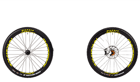 Stage 6 Factory Wheelset Orange Hubs Yellow Rims