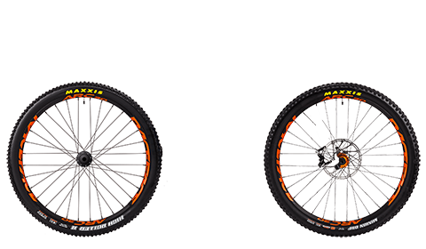 Stage 6 Factory Wheelset Orange Hubs Orange Rims