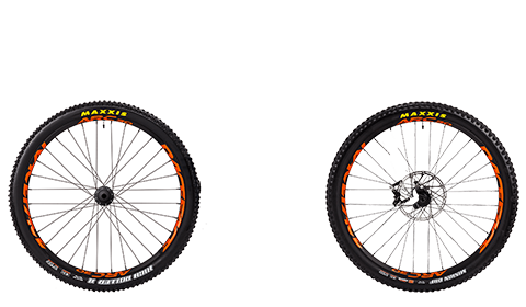 Stage 6 Factory Wheelset Black Hubs Orange Rims
