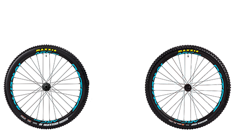 Stage 6 Wheelset Race Face Arc Black Hubs Blue Rims