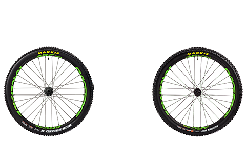 Stage 6 Wheelset Race Face Arc Black Hubs Green Rims