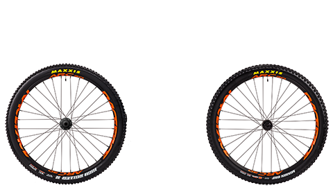 Stage 6 Wheelset Race Face Arc Black Hubs Orange Rims