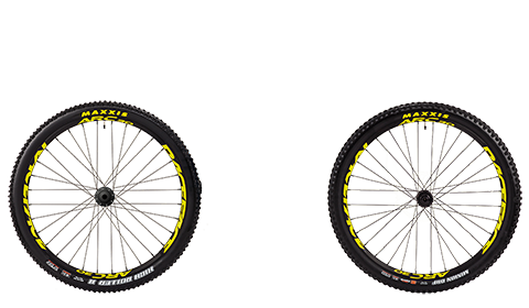 Stage 6 Wheelset Race Face Arc Black Hubs Yellow Rims