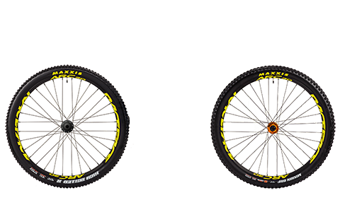 Stage 6 Wheelset Race Face Arc Orange Hubs Yellow Rims