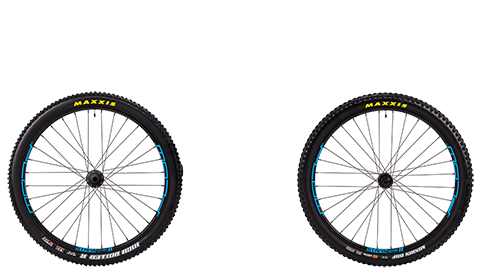 Stage 6 Wheelset Stans Flow Mk3 Black Hubs Blue Rims