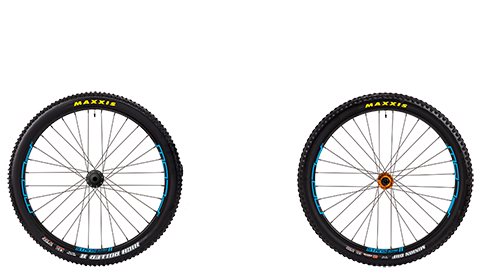 Stage 6 Wheelset Stans Flow Mk3 Orange Hubs Blue Rims